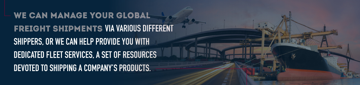 manage global freight shipments