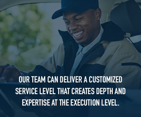 customized services level to create depth and supply chain expertise