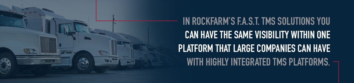 Rockfarm's FAST TMS solution provides visibility