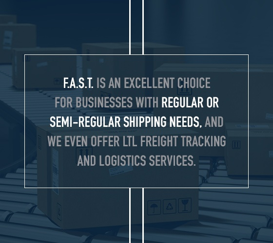 FAST TMS is great for businesses with regular shipping needs