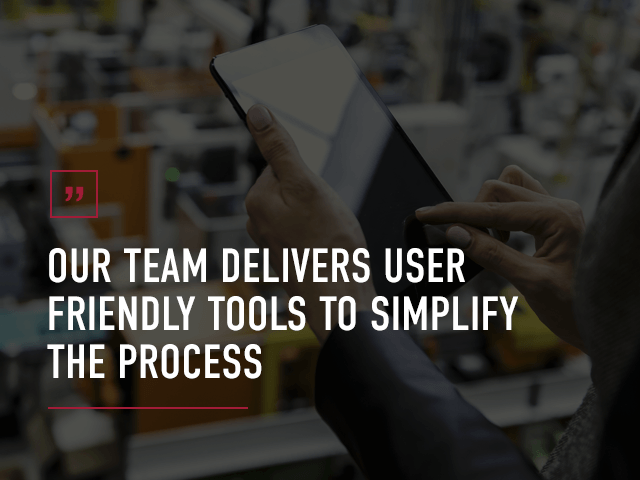 we develop user friendly tools to simplify the process