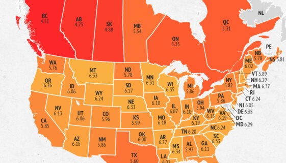 MPG state Map